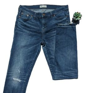 Madewell Alley Straight Jeans Released Hem Size 31